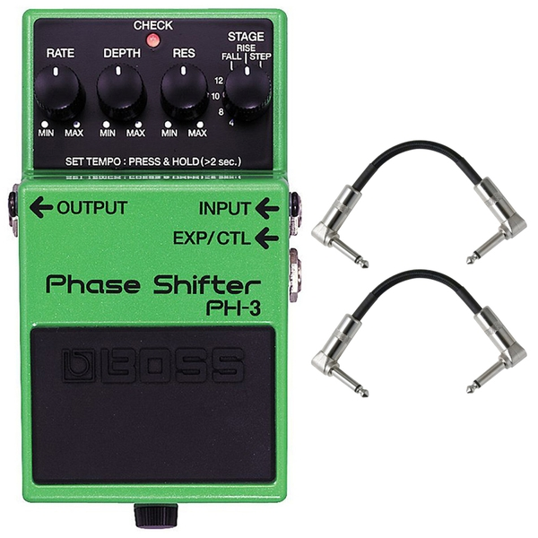 BOSS PH-3 Phase Shifter Guitar Effects Pedal with Patch Cables