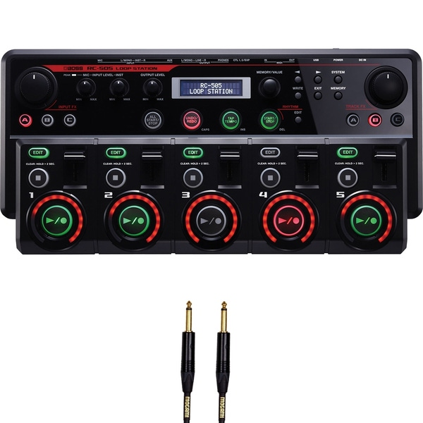Boss RC-505 Loop Station with 10' Mogami Instrument Cable