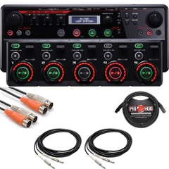 Boss RC-505 Loop Station with MIDI, XLR, and TS Cables