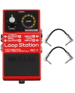 Boss RC-1 Loop Station Pedal with Patch Cables