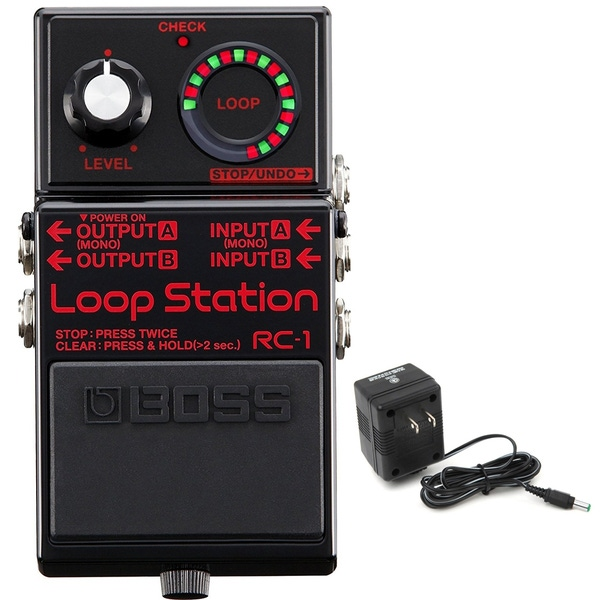 BOSS RC-1 Loop Station Pedal - Limited Edition Black with Power Supply