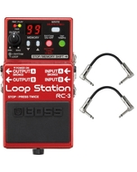 Boss RC3 RC-3 Loop Station Pedal with Patch Cables