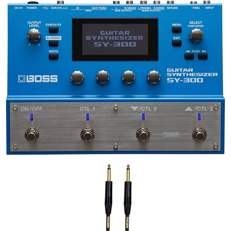 BOSS SY-300 Guitar Synthesizer with Free 25' Mogami Instrument Cable