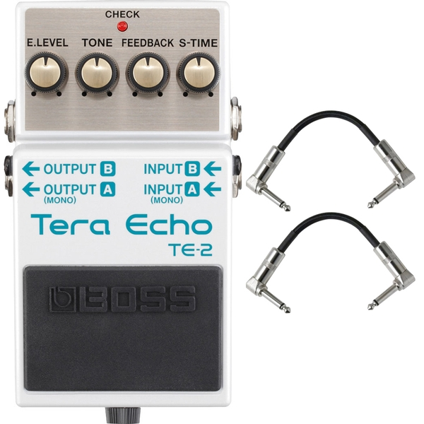 Boss TE-2 Tera Echo Pedal with Patch Cables