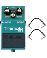 Boss TR-2 Tremolo Pedal with Patch Cables
