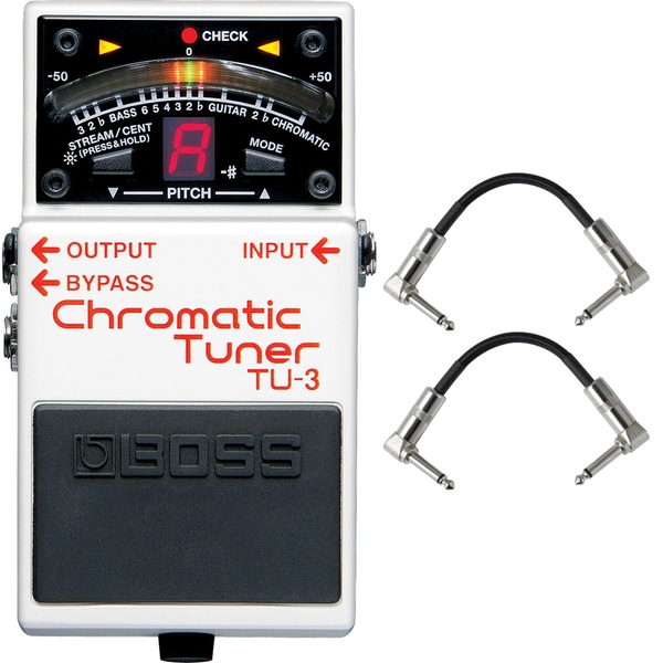 Boss TU-3 Chromatic Tuner Pedal with Patch Cables