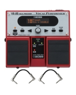 Boss VE-20 Vocal Performer Vocal Processor Twin Pedal with Patch Cables