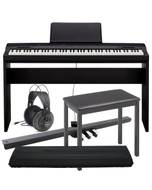 Casio Privia PX-160 88-Key Digital Piano, CS-67 Stand, SP33 3-Pedal Board, Bench, Dust Cover, & Samson Headphones Bundle