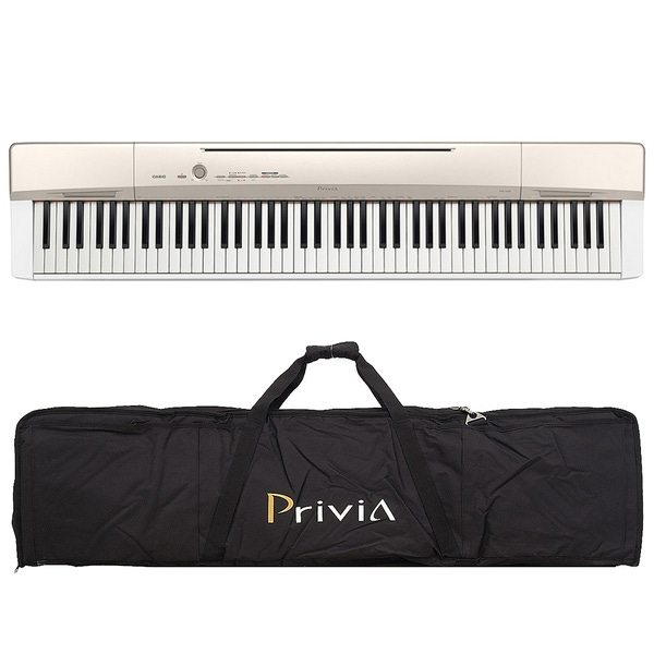 Casio Privia PX-160 88-Key Digital Piano Champagne Gold with Gig Bag