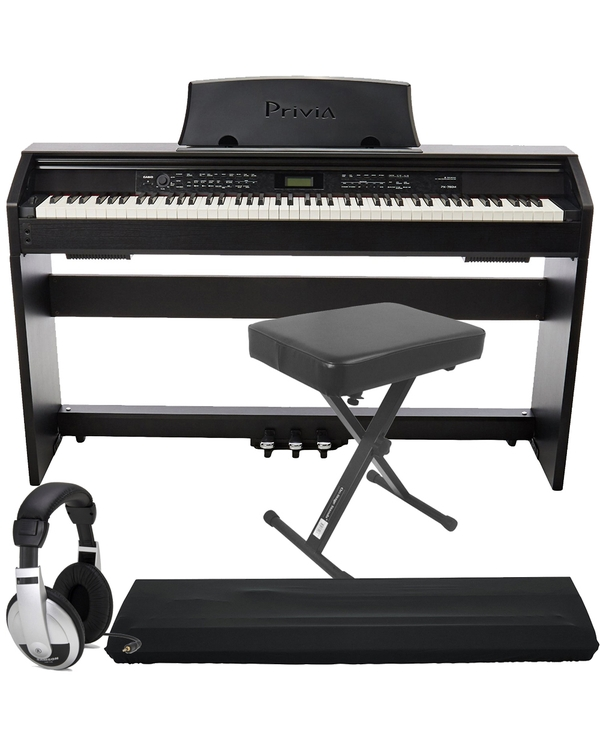 Casio Privia PX-780 88-Key Digital Piano with Keyboard Bench, Dust Cover, and Headphones