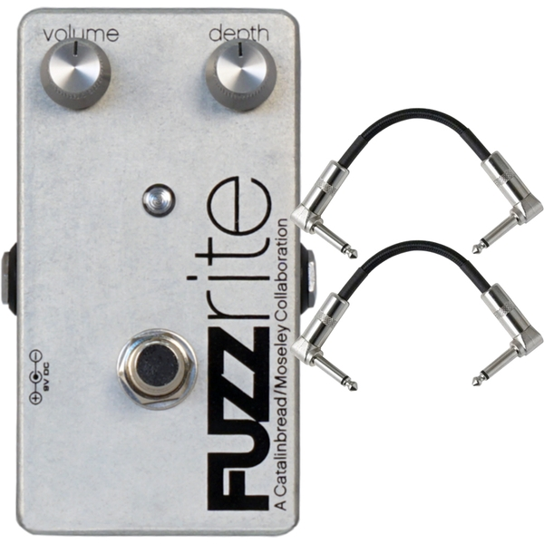 Catalinbread Fuzzrite V2 Fuzz Guitar Effects Pedal with Patch Cables