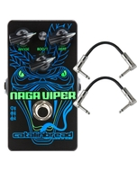 Catalinbread Naga Viper Treble Boost Guitar Effects Pedal with Patch Cables