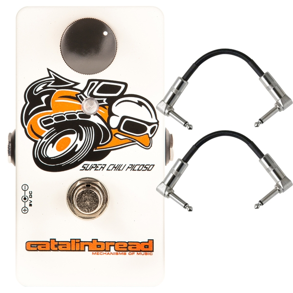 Catalinbread Super Chili Picoso Clean Boost Guitar Effects Pedal with Patch Cables