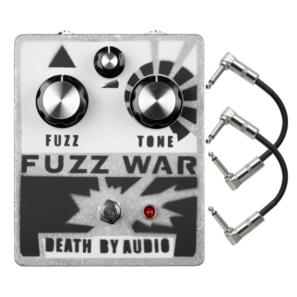Death by Audio Fuzz War Guitar Effects Pedal with Patch Cables