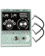 Death by Audio Apocalypse Distortion Guitar Effects Pedal with Patch Cables