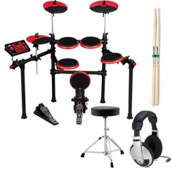 ddrum DD1 Plus 5‑Piece Electronic Drum Set with Throne, Sticks, and Headphones
