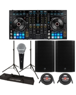 "Pioneer DDJ-RX DJ Controller + Mackie Thump 15A 1300W 15"" Powered Speakers"