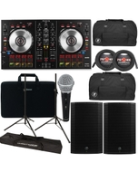 Pioneer DDJ-SB2 DJ Controller + Mackie Thump 15A 1300W Speakers + Bags + Cables + Stands