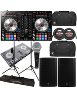 Pioneer DDJ-SR2 DJ Controller + Mackie Thump 15A 1300W Speakers + Bags + Cables + Stands