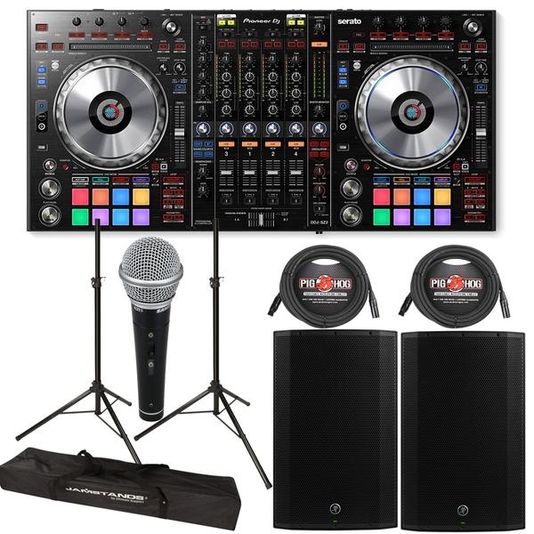 Pioneer DDJ-SZ2 4-Ch Serato DJ Controller + Mackie Thump 15A 1300W 15