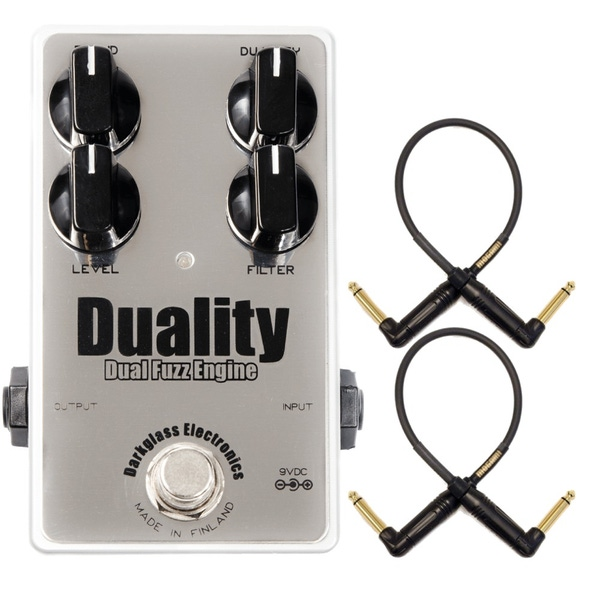 Darkglass Electronics Duality Dual Fuzz Engine Bass Effects Pedal with Mogami Patch Cables