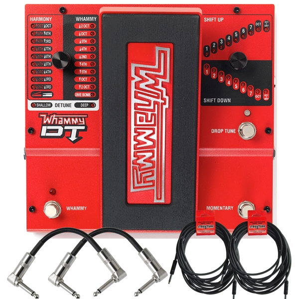Digitech Whammy DT Pitch Shift Drop Tune Guitar Effects Pedal and Cables