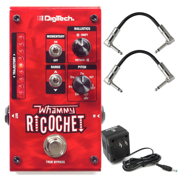 DigiTech Whammy Ricochet Pitch Shifting Guitar Effects Pedal with Patch Cables & Power Supply