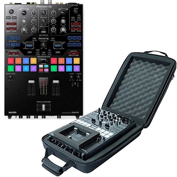 Pioneer DJM-S9 High Performance 2-Channel Serato DJ Mixer with Magma CTRL Case