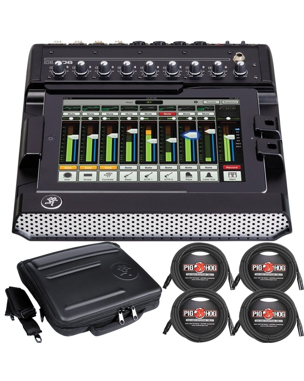 Mackie DL1608 Digital Mixer + Bag + Cables Bundle
