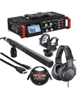 Tascam DR-701D + Audio Technica M20x + Rode NTG2 & HDMI Cable Bundle