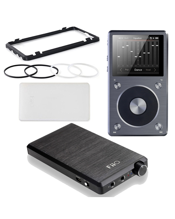 FiiO X5-II Portable High Resolution Music Player with E12 Mont Blanc Headphone Amplifier & HS16 Stacking Kit