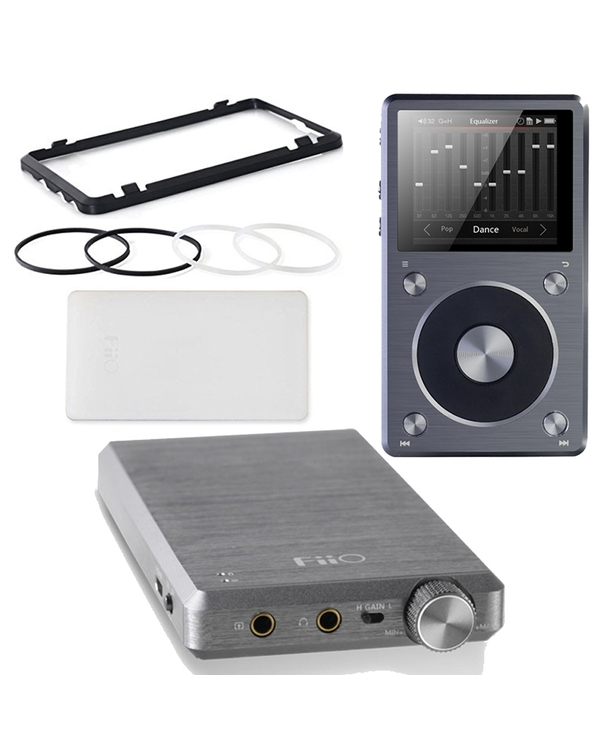 FiiO X5-II Portable High Resolution Music Player with E12A Mont Blanc Special Edition Headphone Amplifier & HS16 Stacking Kit