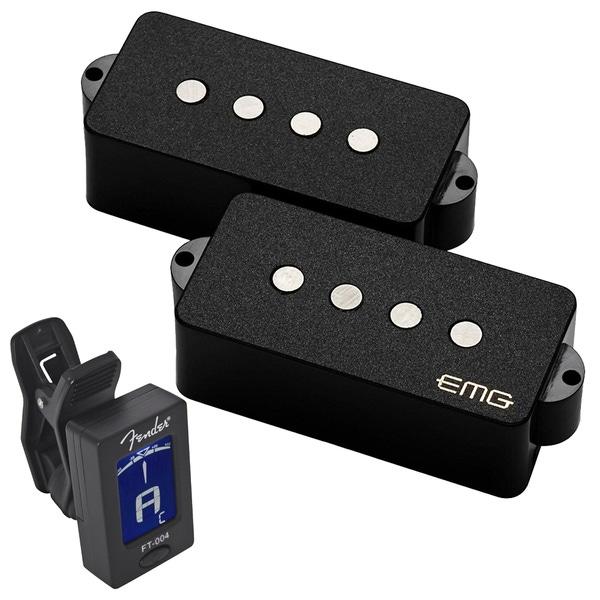EMG Geezer Butler Signature P Bass Pickup Set Black with Free Tuner