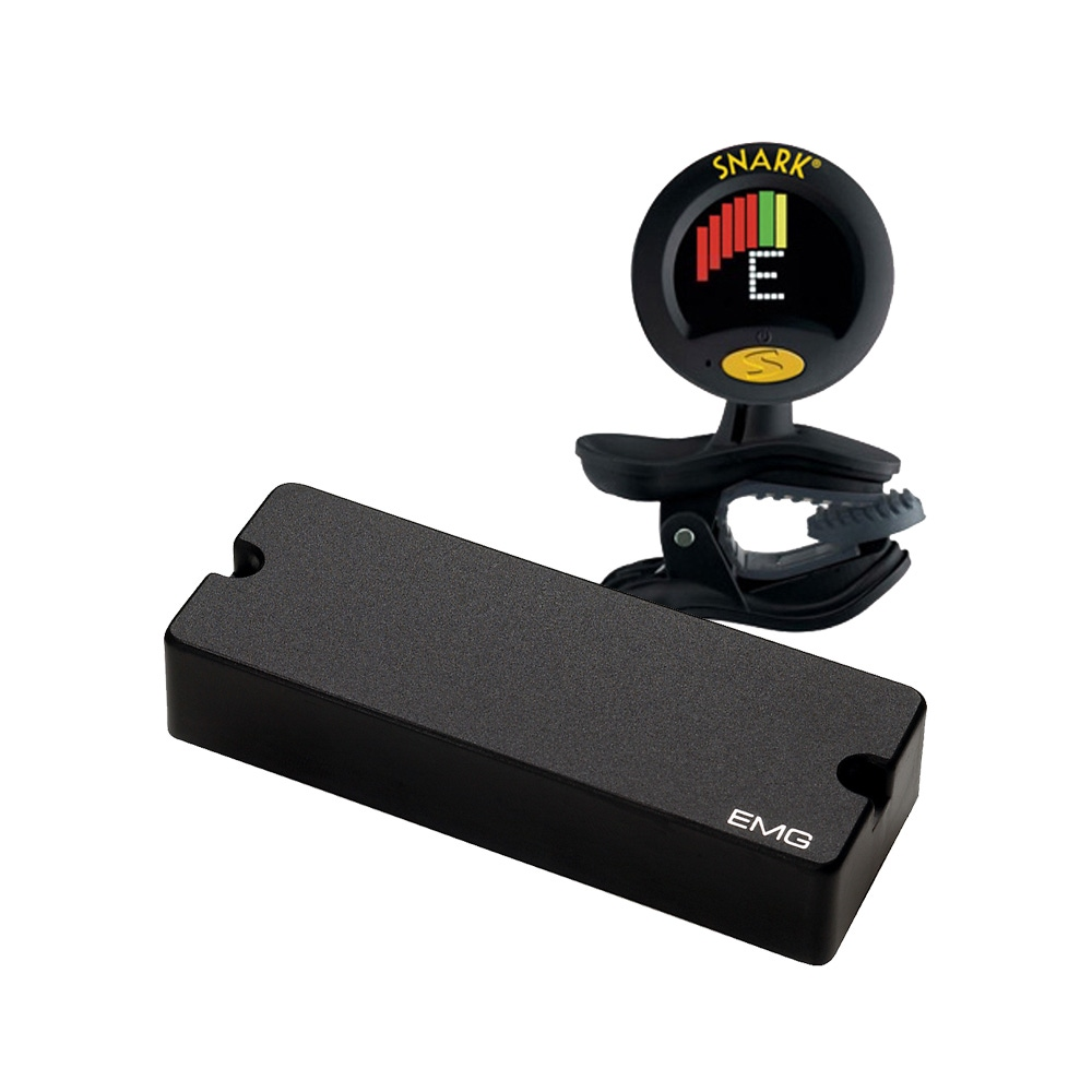 pitbull audio emg 40dc black dual coil 5 string bass pickup with clip on tuner. Black Bedroom Furniture Sets. Home Design Ideas