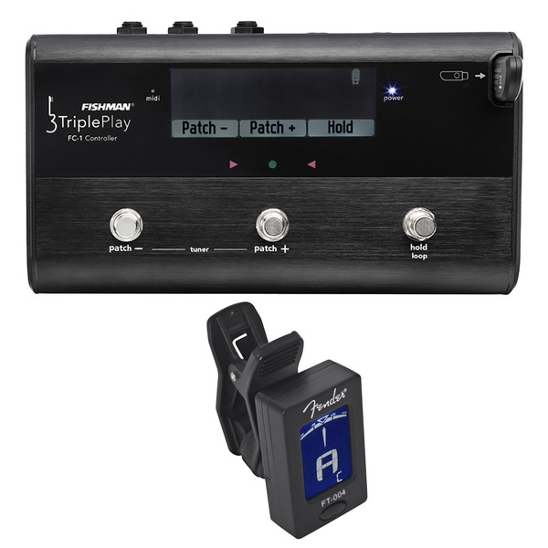 Fishman TriplePlay FC-1 MIDI Floor Controller & Fender Tuner