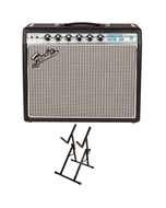 "Fender '68 Custom Princeton Reverb 1x10"" Guitar Combo Amplifier with Ultimate Support Amp Stand"