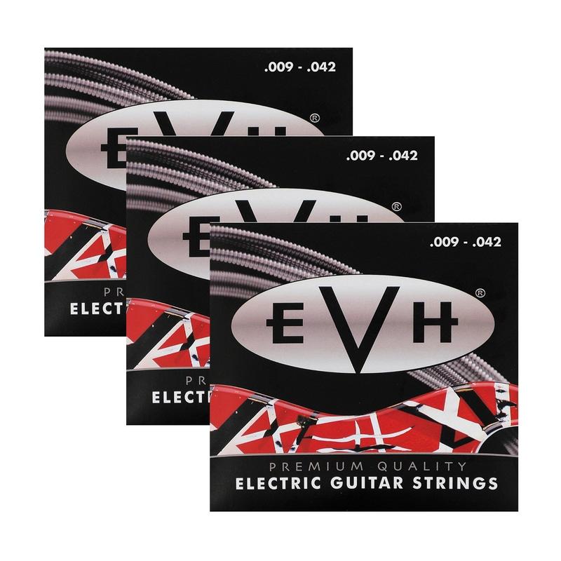 3-Pack of EVH 942 Eddie Van Halen Premium Electric Guitar Strings (09-42)