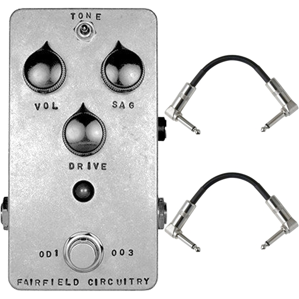 Fairfield Circuitry The Barbershop Millenium Overdrive Guitar Effects Pedal with Patch Cables