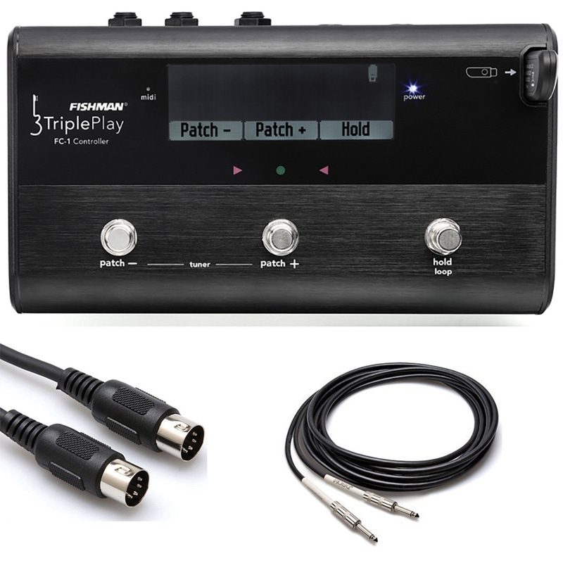 Fishman TriplePlay FC-1 MIDI Floor Controller with MIDI Cable and Instrument Cable