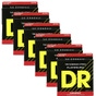 6 Sets of DR Strings FL-12 Legend Light Flatwound Electric Guitar Strings (12-52)