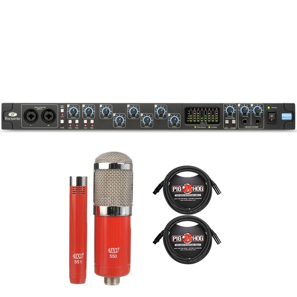 Focusrite Saffire Pro 40 Firewire Audio Recording Interface with MXL Microphone Set and XLR Cables
