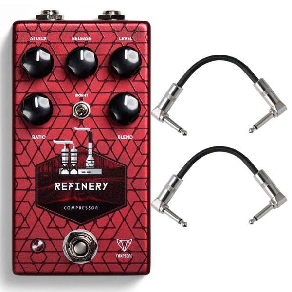Foxpedal Refinery V2 Compressor Guitar Effects Pedal with Patch Cables