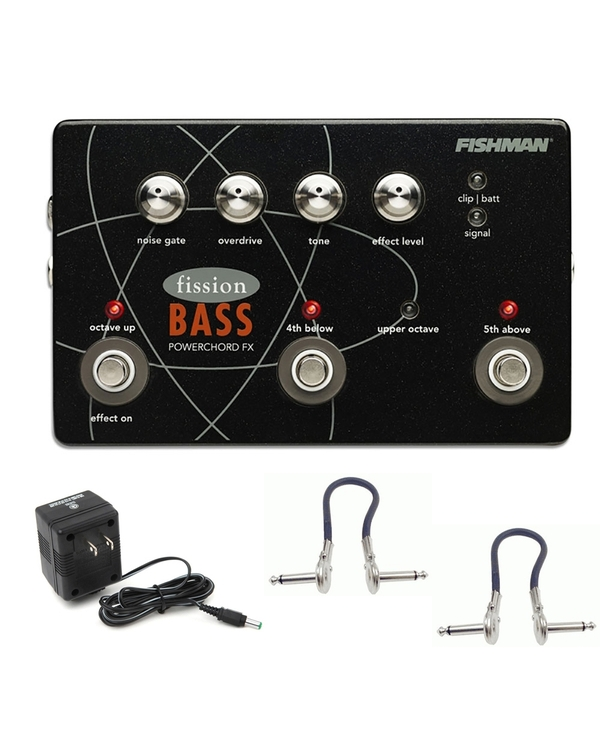 Fishman Fission Bass Powerchord FX Guitar Effects Pedal with Power Supply & Patch Cables