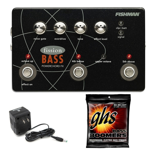 Fishman Fission Bass Powerchord FX Guitar Effects Pedal with Power Supply & Strings