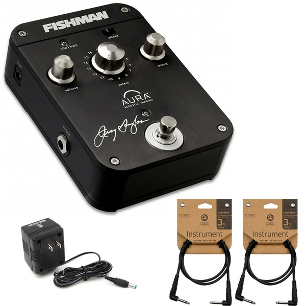 Fishman Jerry Douglas Aura Imaging Resonator Guitar Effects Pedal with Power Supply and Cables