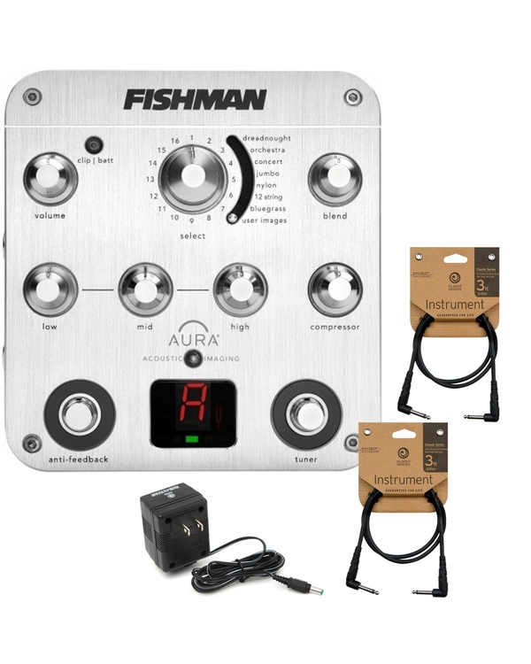 Fishman Aura Spectrum DI Acoustic Preamp with Power Supply and Cables