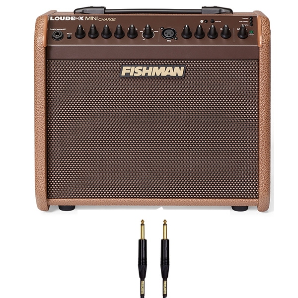 Fishman Loudbox MINI CHARGE Acoustic Guitar/Vocal Amplifier with 10ft Mogami Gold Cable