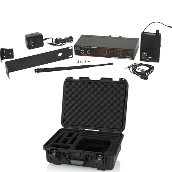 Galaxy Audio AS-900 Any Spot Wireless In-Ear Monitor System Band N8 and Waterproof Hard Case