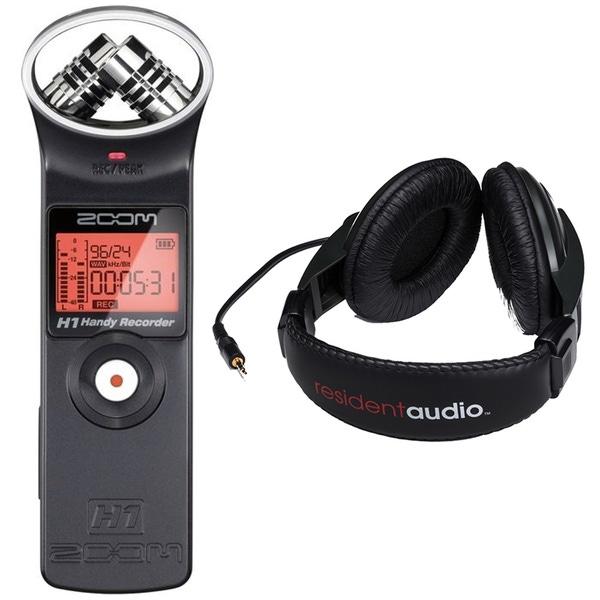 Zoom H1 Handy Recorder & Resident Audio R100 Over-Ear Headphones