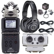 Zoom H5 Recorder w/ EXH6 XLR/TRS Input Capsule Accessory Pack Headphones Cables